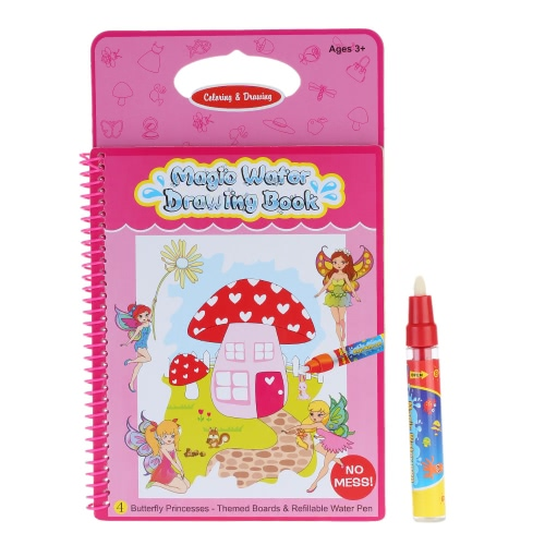 Non-toxic Magic Water Drawing Book Coloring Book Doodle with Magic Pen Butterfly Princesses Series Painting No Ink Educational ToyToys &amp; Hobbies<br>Non-toxic Magic Water Drawing Book Coloring Book Doodle with Magic Pen Butterfly Princesses Series Painting No Ink Educational Toy<br>