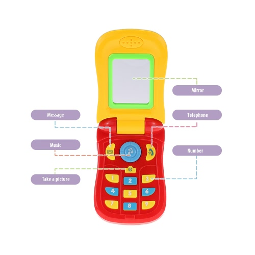 Coolplay Colorful Baby Music Cellular Phone Toy Flip Diary Case Cover Musical Mobile Phone Cellphone Intellecture Enlightment ToyToys &amp; Hobbies<br>Coolplay Colorful Baby Music Cellular Phone Toy Flip Diary Case Cover Musical Mobile Phone Cellphone Intellecture Enlightment Toy<br>