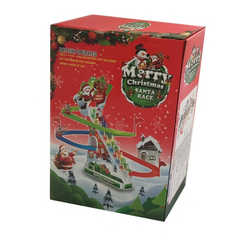 Christmas Santa Climbing Stairs Track Toy with Light and Music Santa Chase Game Christmas Gift for KidsToys &amp; Hobbies<br>Christmas Santa Climbing Stairs Track Toy with Light and Music Santa Chase Game Christmas Gift for Kids<br>