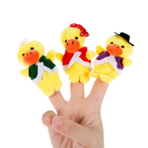 6pcs Animal Finger Puppet Cute Cartoon Duck Plush Toys Finger Doll Child Baby Early Educational ToysToys &amp; Hobbies<br>6pcs Animal Finger Puppet Cute Cartoon Duck Plush Toys Finger Doll Child Baby Early Educational Toys<br>