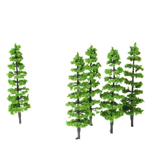 10個モデルモミツリープラスチックミニチュアランドスケープ風景鉄道ミニレイアウトレインフォレストツリースケール1:100-1:150