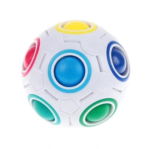 球形ボールレインボーマジックキューブ3Dパズルツイストおもちゃ