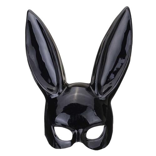Long Rabbit Ears Mask Sexy Bunny Girls Bondage Masquerade