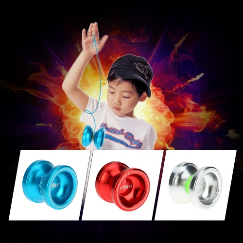 Professional Magic Yoyo T6 Rainbow Aluminum Alloy Metal Yoyo 8 Ball KK Bearing with String for Kids BlueToys &amp; Hobbies<br>Professional Magic Yoyo T6 Rainbow Aluminum Alloy Metal Yoyo 8 Ball KK Bearing with String for Kids Blue<br>