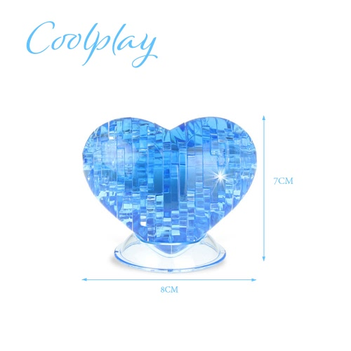 Coolplay 3D Crystal Puzzle Love Shaped Model Kids DIY Building ToyToys &amp; Hobbies<br>Coolplay 3D Crystal Puzzle Love Shaped Model Kids DIY Building Toy<br>