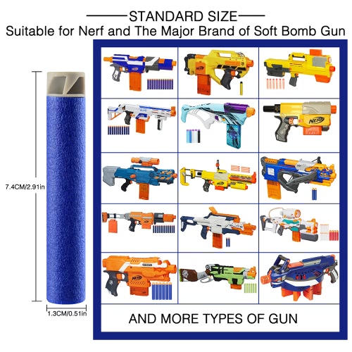 50pcs Refill Darts Hard and Soft Tip Flat Soft Head Foam Bullets Pack for Nerf N-strike Elite Compatible Kids Toy GunToys &amp; Hobbies<br>50pcs Refill Darts Hard and Soft Tip Flat Soft Head Foam Bullets Pack for Nerf N-strike Elite Compatible Kids Toy Gun<br>