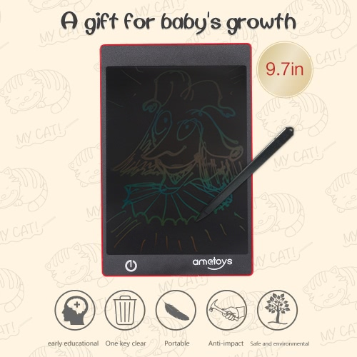 Ametoys 9.7-Inch LCD Writing Tablet Drawing Red - ColorfulToys &amp; Hobbies<br>Ametoys 9.7-Inch LCD Writing Tablet Drawing Red - Colorful<br>