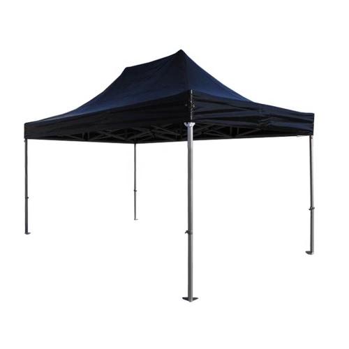 Tente Pliante 3 * 4 5m PVC 520g/m² Tube Aluminium 50mm Noire