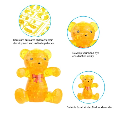 Coolplay 3D Crystal Blocks Assembly Puzzle Translucent DIY Puzzle Building Blocks Bear-shaped Kids Toy Lovely Gift for Children AToys &amp; Hobbies<br>Coolplay 3D Crystal Blocks Assembly Puzzle Translucent DIY Puzzle Building Blocks Bear-shaped Kids Toy Lovely Gift for Children A<br>