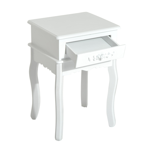 24 Wood End Table w/ Storage Drawer - WhiteHome &amp; Garden<br>24 Wood End Table w/ Storage Drawer - White<br>