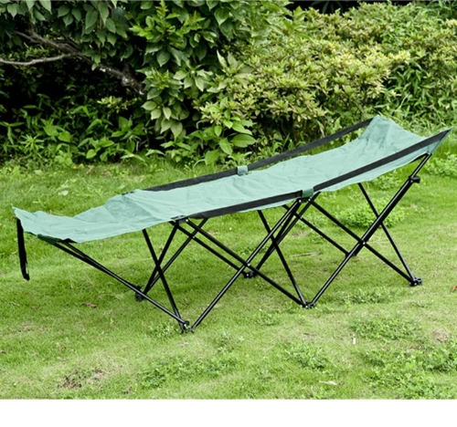 Deluxe Folding Camping Cot w/ Carrying Bag - GreenSports &amp; Outdoor<br>Deluxe Folding Camping Cot w/ Carrying Bag - Green<br>