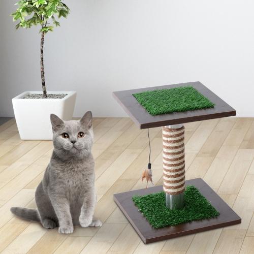 """15"""" Artificial Grass Cat Scratching Post Activity TreeHome &amp; Garden<br>15"""" Artificial Grass Cat Scratching Post Activity Tree<br>"""