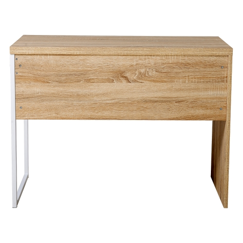 Modern Wood Steel Computer Desk Writing Table w/ DrawerHome &amp; Garden<br>Modern Wood Steel Computer Desk Writing Table w/ Drawer<br>