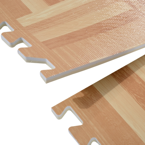 18 Tile Interlocking Puzzle Foam Floor Tile Mats - Light Wood GeometricHome &amp; Garden<br>18 Tile Interlocking Puzzle Foam Floor Tile Mats - Light Wood Geometric<br>