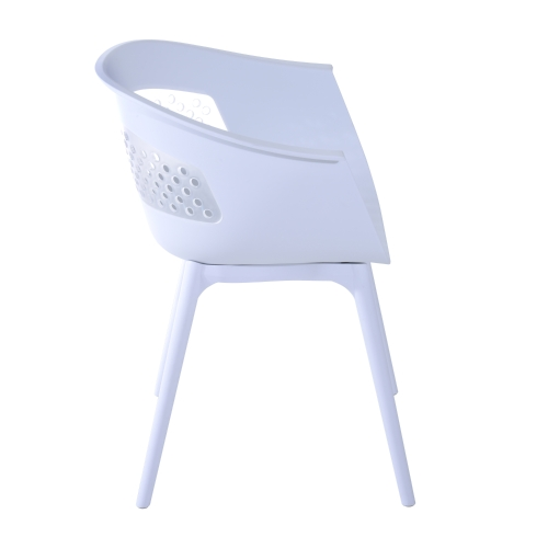 30 Eames Style Mid-Century Modern Molded Plastic Armchair Set of 2 - WhiteHome &amp; Garden<br>30 Eames Style Mid-Century Modern Molded Plastic Armchair Set of 2 - White<br>