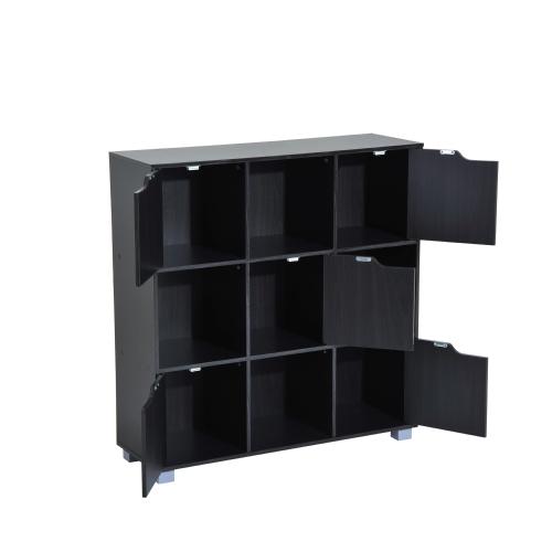 Cube Bookcase Storage Shelf Organizer (9 Cube  Black)Home &amp; Garden<br>Cube Bookcase Storage Shelf Organizer (9 Cube  Black)<br>
