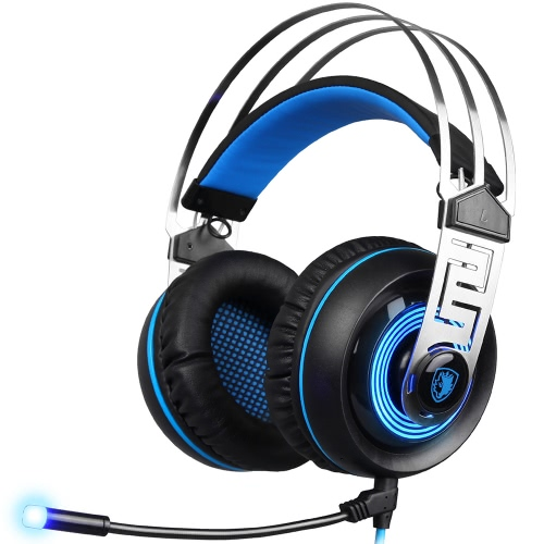SADES A7 3.5mm Gaming Headset Black with BlueVideo &amp; Audio<br>SADES A7 3.5mm Gaming Headset Black with Blue<br>