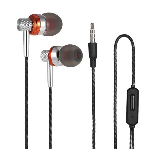 Casque audio intra-auriculaire pour musique stéréo avec fil de 3,5 mm