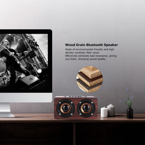 W5 Red Wood Grain Speaker Bluetooth 4.2  DarkVideo &amp; Audio<br>W5 Red Wood Grain Speaker Bluetooth 4.2  Dark<br>