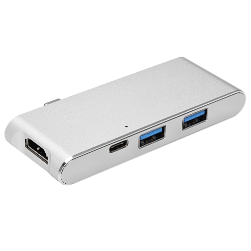 USB 3.1 Type-C Hub USB C Hub Multi-port Adapter HD Output 4K 2 USB 3.0 TF SD Card Reader Type-C Charging Port for MacBook ChromeboVideo &amp; Audio<br>USB 3.1 Type-C Hub USB C Hub Multi-port Adapter HD Output 4K 2 USB 3.0 TF SD Card Reader Type-C Charging Port for MacBook Chromebo<br>