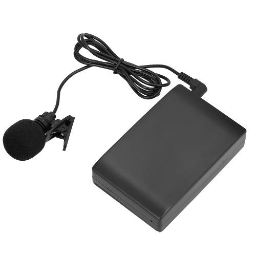 مصغرة لاسلكية كليب على FM ميكروفون صوت مكبر للصوت