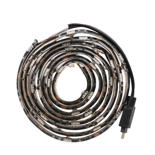USB LEDテレビバックライトライトストリップワイヤレスリモートコントロール1メートル
