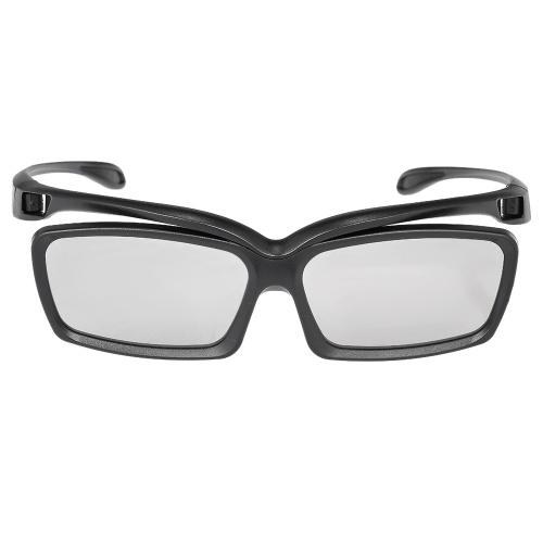 LT01 Gafas 3D pasivas Lentes polarizadas circulares para televisores polarizados Cines 3D reales D para Sony Panasonic