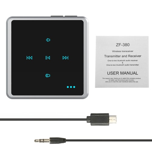 ZF-380 2 in 1 Wireless Bluetooth Audio Adapter Transmitter &amp; Receiver Music Adapter Car Kit Audio Player Wireless Adapter Aux 3.5mVideo &amp; Audio<br>ZF-380 2 in 1 Wireless Bluetooth Audio Adapter Transmitter &amp; Receiver Music Adapter Car Kit Audio Player Wireless Adapter Aux 3.5m<br>