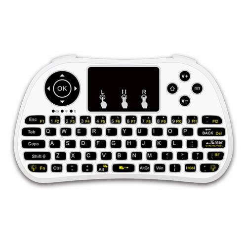P9 2.4G RF Wireless Keyboard Flash Blacklit Keyboard w/ Touchpad Mouse Combo Multimedia Keys Handheld Remote Control for Android TVideo &amp; Audio<br>P9 2.4G RF Wireless Keyboard Flash Blacklit Keyboard w/ Touchpad Mouse Combo Multimedia Keys Handheld Remote Control for Android T<br>