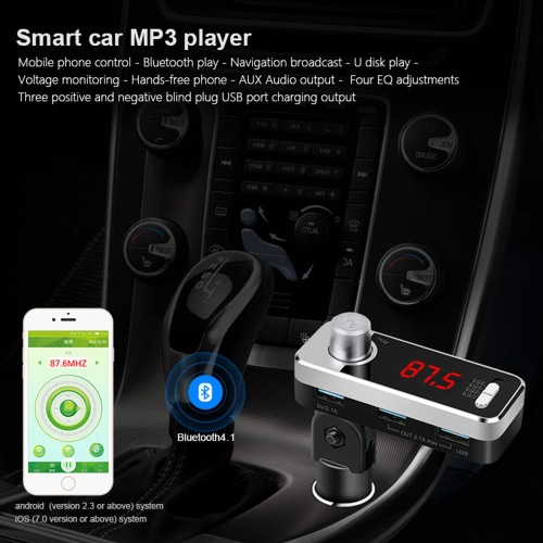 Car Use Wireless Stereo Bluetooth 4.1 Hands-free Car Kit w/ Mic Talking &amp; Music Streaming Dongle Receiver w/ 2.1A Three USB Car ChVideo &amp; Audio<br>Car Use Wireless Stereo Bluetooth 4.1 Hands-free Car Kit w/ Mic Talking &amp; Music Streaming Dongle Receiver w/ 2.1A Three USB Car Ch<br>