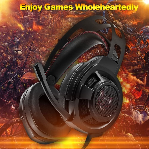 ONIKUMA Gaming Headset 3.5mm Stereo Headphones w/Retractable Microphone Volume Control Noise Canceling LED Lights for PCVideo &amp; Audio<br>ONIKUMA Gaming Headset 3.5mm Stereo Headphones w/Retractable Microphone Volume Control Noise Canceling LED Lights for PC<br>