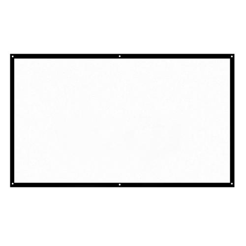 H84 84 '' Schermo per proiettore portatile HD 16: 9 Bianco 84 pollici Schermo per proiezione diagonale Teatro Home pieghevole per proiezione a parete Ambientazione esterna all'aperto