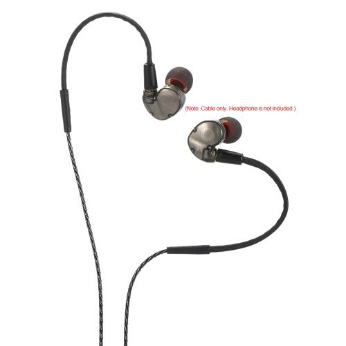 Detachable Premium Auxiliary Audio Cable (4.2ft / 1.3m) Plug-pull AUX Cable for SENNHEISER Shure Headphones SE425 SE535 SE846 UE90Video &amp; Audio<br>Detachable Premium Auxiliary Audio Cable (4.2ft / 1.3m) Plug-pull AUX Cable for SENNHEISER Shure Headphones SE425 SE535 SE846 UE90<br>