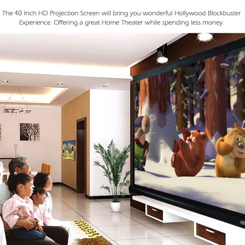 40-inch HD Projection Screen Manual Pull Up Folding Tabletop Projecting Screen Aspect Ratio 4:3 Portable Projection Screen for DLPVideo &amp; Audio<br>40-inch HD Projection Screen Manual Pull Up Folding Tabletop Projecting Screen Aspect Ratio 4:3 Portable Projection Screen for DLP<br>