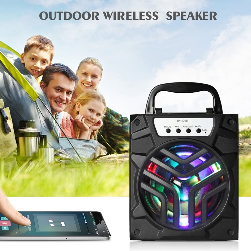 HK-101BT Bluetooth Speaker Stereo Bluetooth 3.0 Loudspeaker USB 3.5mm Audio Port FM Radio Subwoofer with TF Card Slot for iPhone 7Video &amp; Audio<br>HK-101BT Bluetooth Speaker Stereo Bluetooth 3.0 Loudspeaker USB 3.5mm Audio Port FM Radio Subwoofer with TF Card Slot for iPhone 7<br>