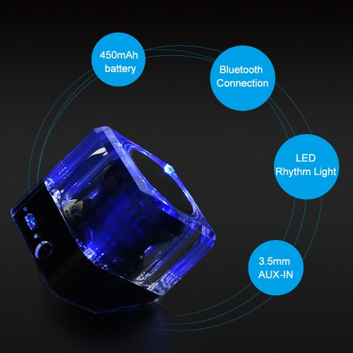 Wireless Bluetooth Speaker with LED Rhythm Light 3.5mm AUX-IN Hands-free with Mic RedialVideo &amp; Audio<br>Wireless Bluetooth Speaker with LED Rhythm Light 3.5mm AUX-IN Hands-free with Mic Redial<br>