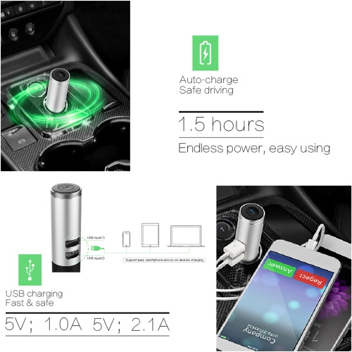 OVEVO Q9 Bluetooth Headphone with Car Charger Bluetooth 4.2 Earphone Headset Dual USB Port Auto Answer / Hang UpVideo &amp; Audio<br>OVEVO Q9 Bluetooth Headphone with Car Charger Bluetooth 4.2 Earphone Headset Dual USB Port Auto Answer / Hang Up<br>