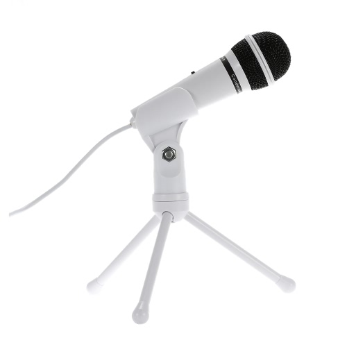 SF-910 Professional 3.5mm Condenser  Microphone Sound  Studio Podcast w/ Stand For Skype Desktop PC Notebook (White)Video &amp; Audio<br>SF-910 Professional 3.5mm Condenser  Microphone Sound  Studio Podcast w/ Stand For Skype Desktop PC Notebook (White)<br>