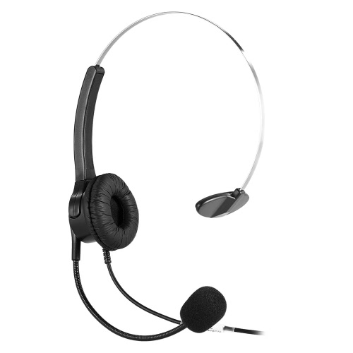 Stereo Customer Service Headphone on Ear Headset Hands-free with Mic for Office Business ConferenceVideo &amp; Audio<br>Stereo Customer Service Headphone on Ear Headset Hands-free with Mic for Office Business Conference<br>