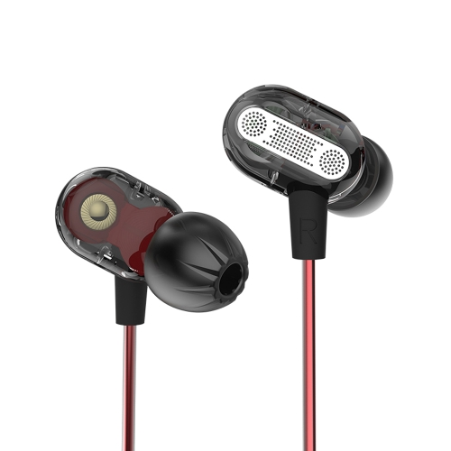 KZ ZSE 3.5mm dans l'oreille écouteur dynamique double pilote avec microphone