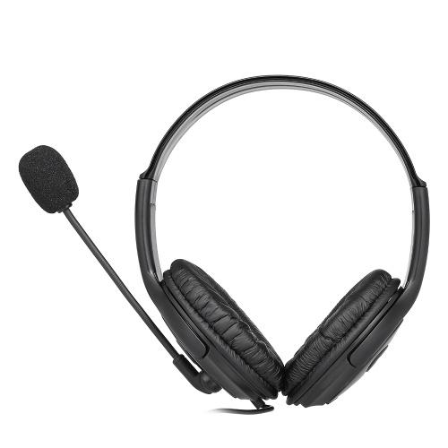 3.5mm Filaire Gaming Casques Sur L'oreille Casque Annulation de Bruit Écouteur avec Microphone Contrôle Du Volume pour PS4 / Xbox one