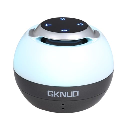 GKNUO Wireless Bluetooth Speaker with LED Rhythm Light Bluetooth 4.0 3.5mm AUX-IN TF Card Hands-free with Mic Touch KeyVideo &amp; Audio<br>GKNUO Wireless Bluetooth Speaker with LED Rhythm Light Bluetooth 4.0 3.5mm AUX-IN TF Card Hands-free with Mic Touch Key<br>