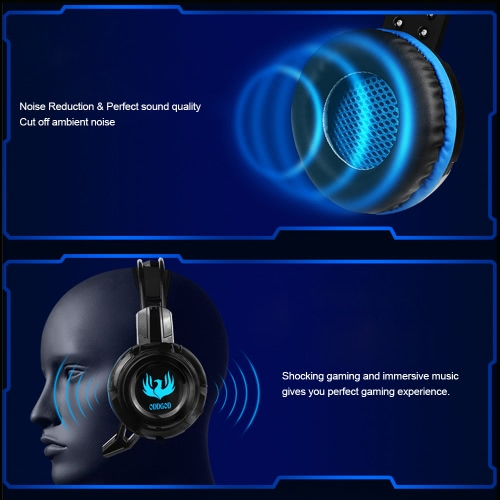 Songful G3 3.5mm Gaming Headphone Over-ear with Mic Adjustable Headband Headset Stereo Bass for PS PC Computer Laptop Mobile PhoneVideo &amp; Audio<br>Songful G3 3.5mm Gaming Headphone Over-ear with Mic Adjustable Headband Headset Stereo Bass for PS PC Computer Laptop Mobile Phone<br>