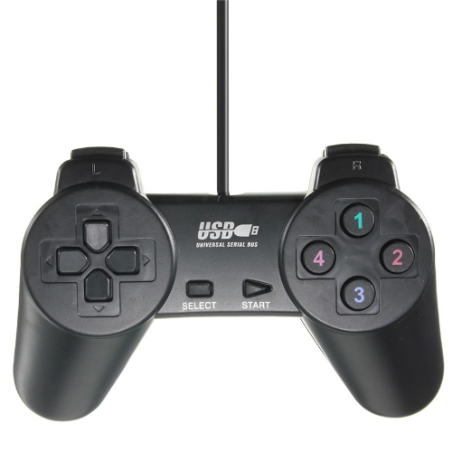Leichter schwarzer verdrahteter Steuerknüppel Gamepad Joypad-Spiel-Prüfer