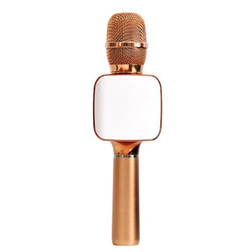 TOSING 02 لاسلكي كاريوكي ميكروفون بلوتوث 2 في 1 يده تسجيل صوتي محمول KTV لاعب ل IOS الروبوت الهواتف الذكية الكمبيوتر اللوحي ارتفع الذهب