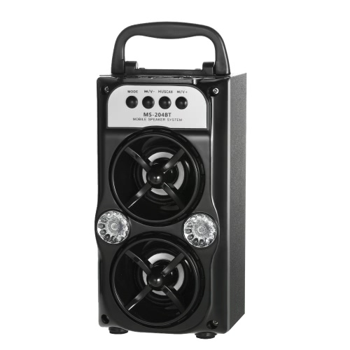 Bluetooth Outdoor Speaker Wireless Dual 5W Speakers Bluetooth Music TF Card USB  FM Radio AUX-IN LED Light for iOS / Android SmartVideo &amp; Audio<br>Bluetooth Outdoor Speaker Wireless Dual 5W Speakers Bluetooth Music TF Card USB  FM Radio AUX-IN LED Light for iOS / Android Smart<br>