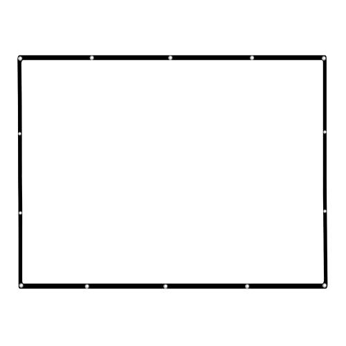 136 '' Projetor Portátil Tela HD 16: 9 Branco 136 Polegada Tela de Projeção Diagonal Dobrável Home Theater para Parede Projeção Interior Ao Ar Livre