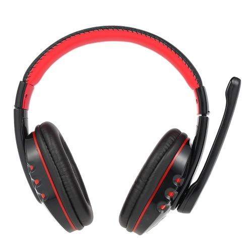 Andoer V8 Haute Qualité Professionnelle Sans Fil BT 3.0 Casque Jeu Ecouteurs Mains Libres Bandeau Réglable avec Microphone pour PS3 Téléphones  Intelligents Tablet PC Portable