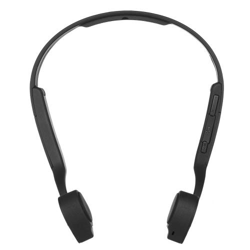 Cuffia X1 conduzione ossea senza fili BT cuffia stereo BT 4.0 CSR8645 tracolla auricolare vivavoce per Android / iOS Smart Phones Altri dispositivi abilitati BT Nero