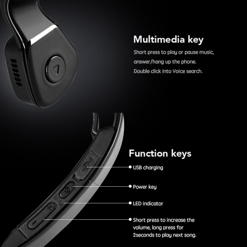 Windshear S6 Bone Conduction Headset Wireless Bluetooth Earphone Outdoor Sports Headphone Hands-free with Mic White for Smart PhonVideo &amp; Audio<br>Windshear S6 Bone Conduction Headset Wireless Bluetooth Earphone Outdoor Sports Headphone Hands-free with Mic White for Smart Phon<br>